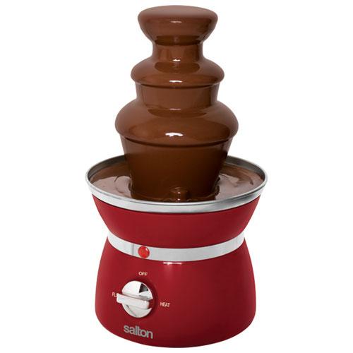 fontaine de chocolat de salton rouge ensembles fondue best buy canada. Black Bedroom Furniture Sets. Home Design Ideas