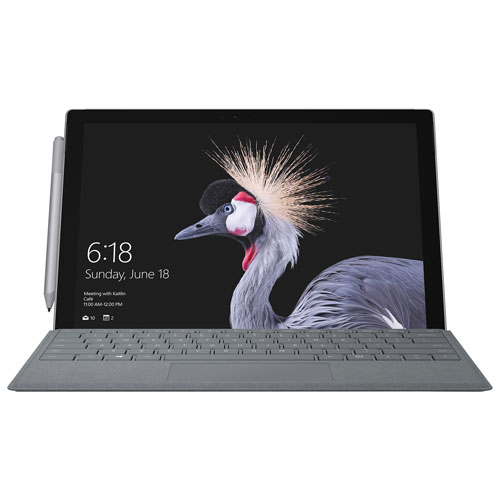"Microsoft Surface Pro 12.3"" 256GB Windows 10 Pro Tablet with 7th Gen Intel Core i5-7300U - Silver"