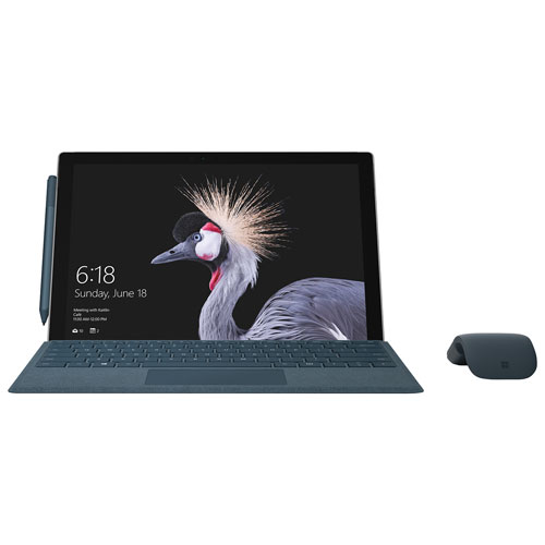 "Microsoft Surface Pro 12.3"" 128GB Windows 10 Pro Tablet with 7th Gen Intel Core m3-7Y30 - Silver"