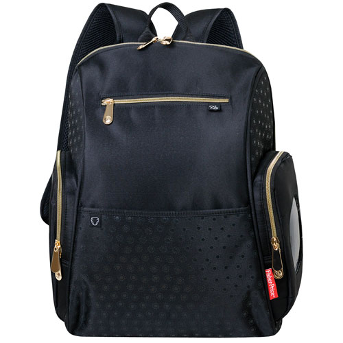 fisher price geometric backpack diaper bag black diaper bags best buy canada. Black Bedroom Furniture Sets. Home Design Ideas