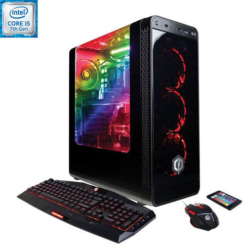Gamer Xtreme VR de CyberPowerPC - Rouge (Core i5-7400 Intel/DD 1 To/RAM 8 Go/Radeon RX 570 AMD)-Ang