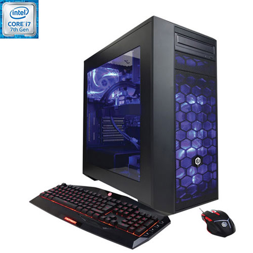 Ordi jeu Gamer Supreme VR CyberPowerPC (i7 Intel/DD 2 To/SSD 16 Go/RAM 16 Go/Radeon RX 580 AMD) -An