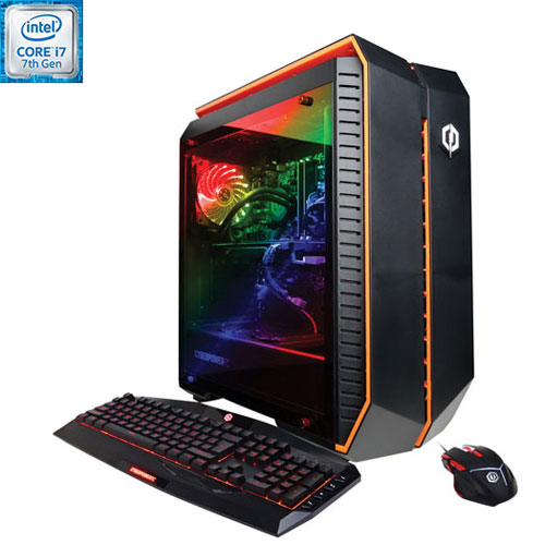 CyberPowerPC Gamer Supreme PC (Intel Core i7-7700K/2TB HDD/240GB SSD/16GB RAM/AMD Radeon RX 580)-Eng