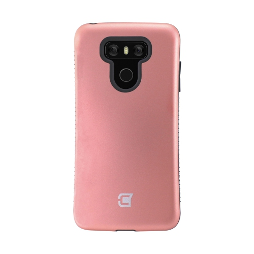 Dual Layer Hybrid Military Graded Shock Express Case with Raised Lip - LG G6 - Rose Gold