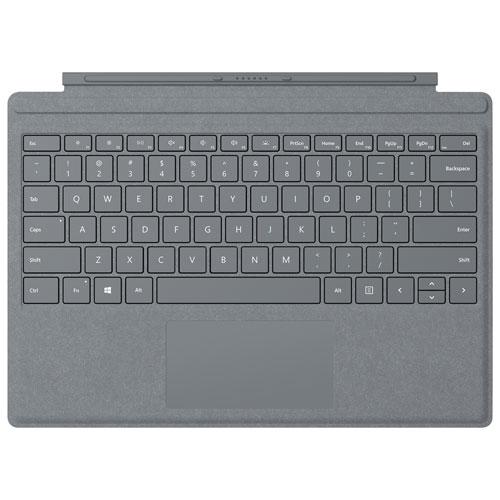 Étui-clavier Type Cover Signature pour Surface Pro de Microsoft - Platine- Anglais