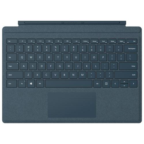 Étui-clavier Type Cover Signature pour Surface Pro de Microsoft - Bleu cobalt - Anglais