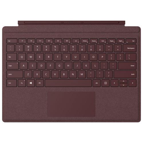 Étui-clavier Type Cover Signature pour Surface Pro de Microsoft - Bourgogne- Anglais