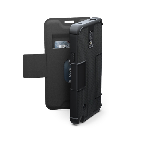 UAG Folio Samsung Galaxy Note 4 Feather-Light Composite [BLACK] Military Drop Tested Phone Case