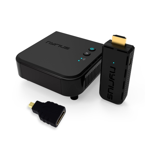 Nyrius ARIES Prime Digital Wireless HDMI Transmitter & Receiver System for HD 1080p Streaming & BONUS HDMI to Micro HDMI