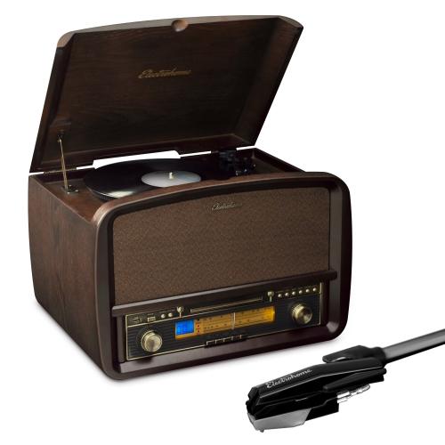 Electrohome Signature Vinyl Record Player Classic Turntable Hi-Fi Stereo System & Bonus Replacement Needle