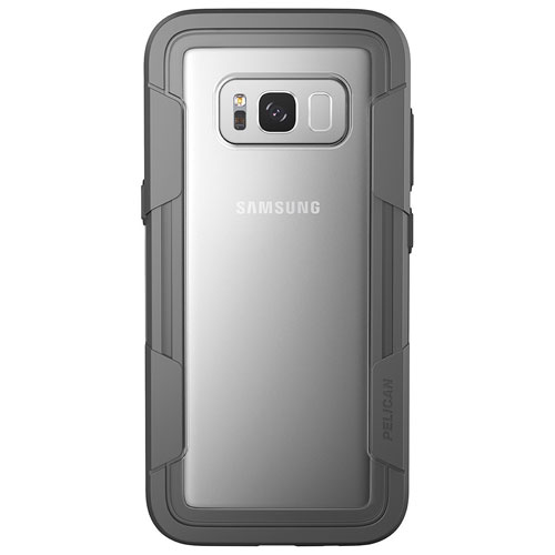 Pelican Voyager Fitted Hard Shell Case for Galaxy S8 Plus - Clear/Grey