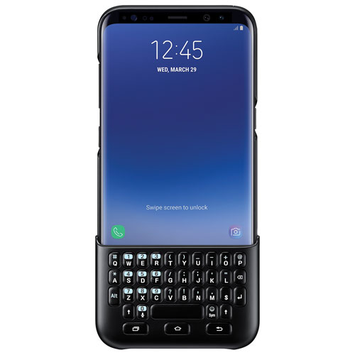 Samsung Galaxy S8+ Fitted Hard Shell Keyboard Cover - Black