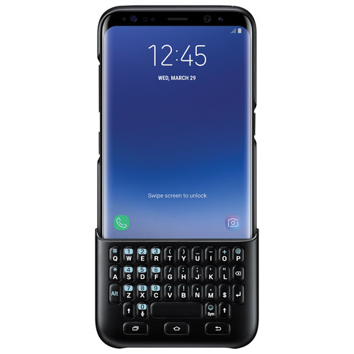 Samsung Fitted Hard Shell Keyboard Cover for Galaxy S8 - Black