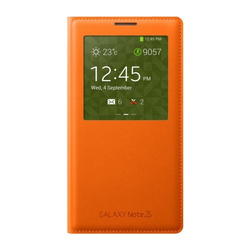Flip Cover Case for Samsung S View Flip Cover for Galaxy Note 3 - Orange