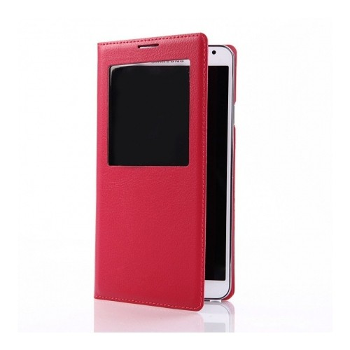 Esource Parts Flip Cover Case for Samsung Galaxy Note 3 - Red