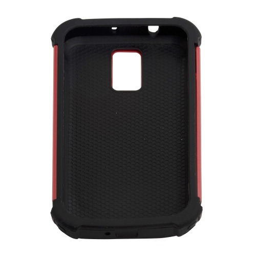 Hybrid Rugged Hard / Soft Case Cover for Samsung Hercules T989 T-Mobile Galaxy S2 - Red
