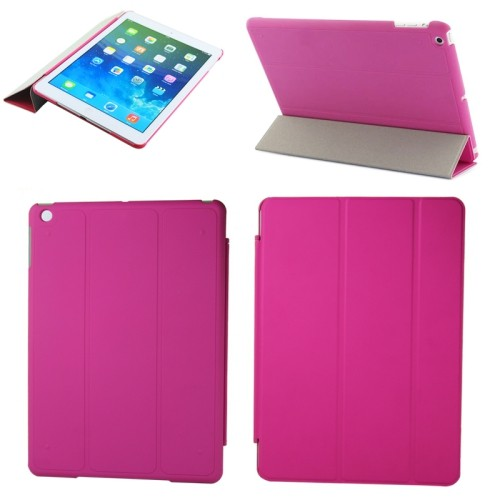 Ultra Slim Folding Case Cover Flip Stand Folio For Apple iPad Air - Hot Pink