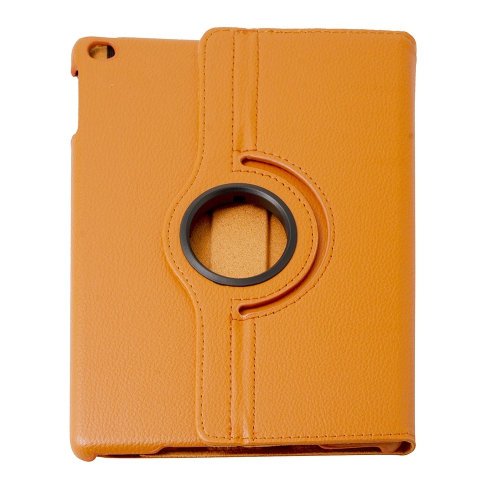360 Degree Rotating PU Leather Case Smart Cover Stand for Apple iPad Air - Orange