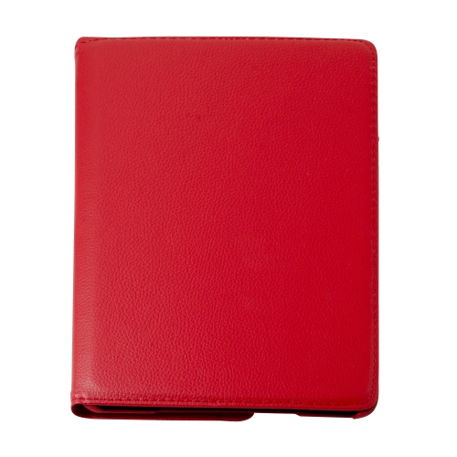 360 Degree Rotating PU Leather Case Smart Cover Stand for Apple iPad Air - Red