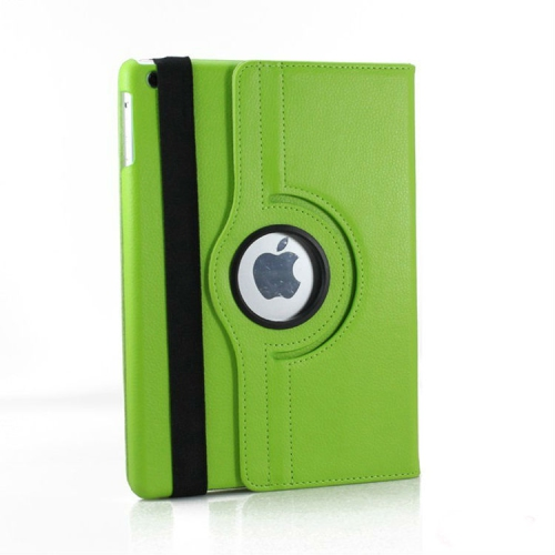 360 Degree Rotating PU Leather Case Smart Cover Stand for Apple iPad Air - Green