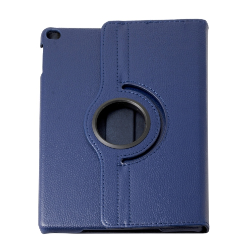 360 Degree Rotating PU Leather Case Smart Cover Stand for Apple iPad Air - Navy Blue