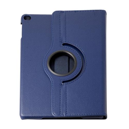 Étui intelligent en cuir PU avec rotation à 360 degrés avec support pour Apple iPad Air - Bleu marine