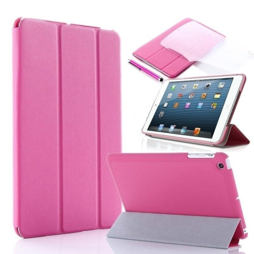 Ultra Slim Smart Leather Case Cover for New Apple iPad Air - Hot Pink