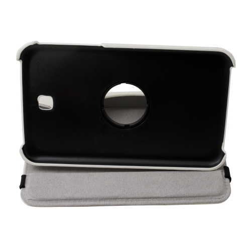 "360 Rotating Leather Hard Case Cover For Samsung Galaxy Tab 3 7.0"" T210 Tablet - White"