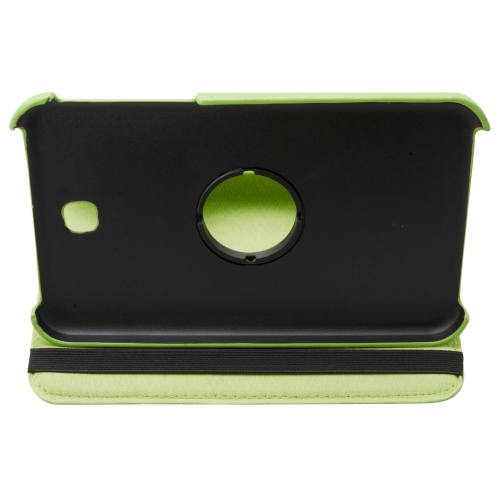 """360 Rotating Leather Hard Case Cover For Samsung Galaxy Tab 3 7.0"""" T210 Tablet - Green"""
