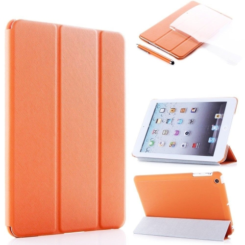 Ultra Slim Smart Leather Case Cover for New Apple iPad Air - Orange