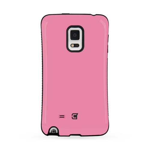 Dual Layer Hybrid Military Graded Shock Express Case with Raised Lip - Samsung Galaxy Note Edge - Pink