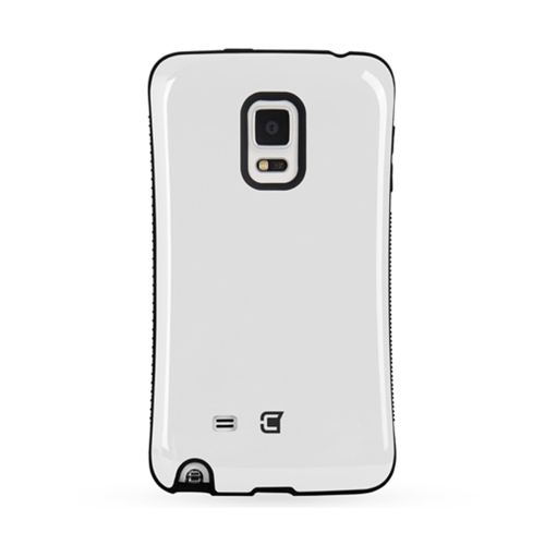 Dual Layer Hybrid Military Graded Shock Express Case with Raised Lip - Samsung Galaxy Note Edge - White