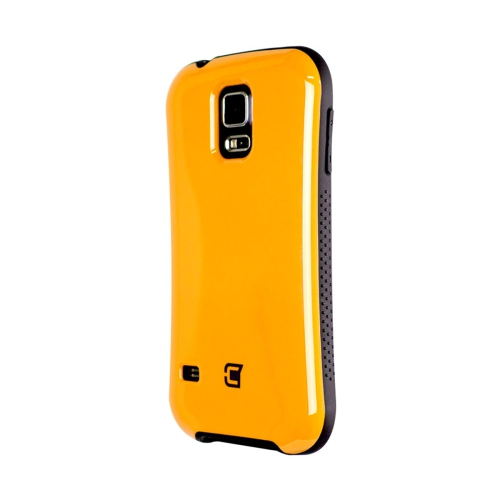 Dual Layer Hybrid Military Graded Shock Express Case with Raised Lip - Samsung Galaxy S5 - Orange