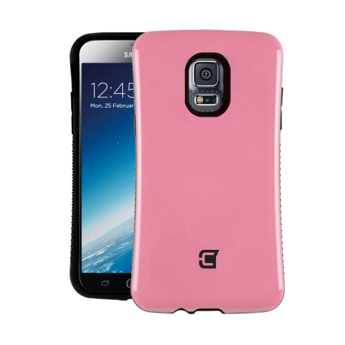 Dual Layer Hybrid Military Graded Shock Express Case with Raised Lip - Samsung Galaxy S5 - Pink