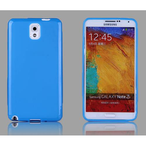 Soft TPU Gel Back Case Cover for Samsung Galaxy Note 3 III - Light Blue