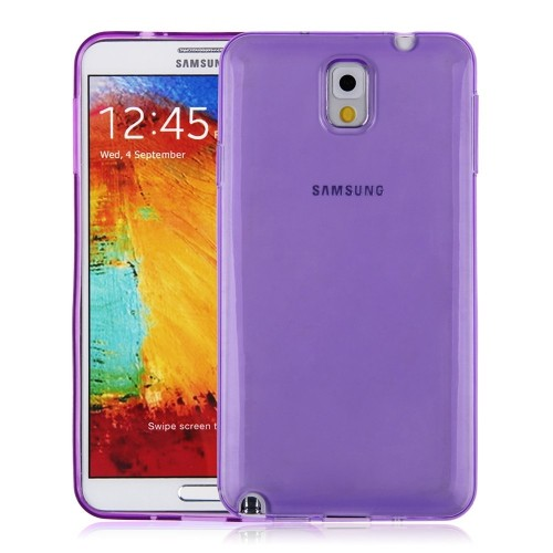 Soft TPU Gel Cear Back Case Cover for Samsung Galaxy Note 3 III - Purple