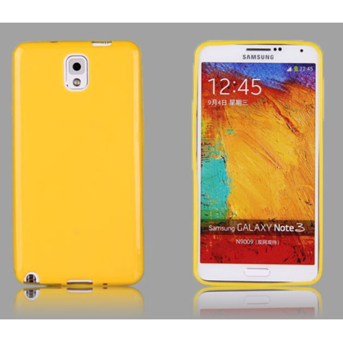 Esource Parts Fitted Soft Shell Case for Samsung Galaxy Note 3 - Yellow