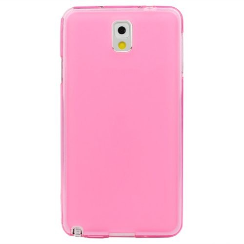 Soft TPU Gel Back Case Cover for Samsung Galaxy Note 3 III- Soft Pink