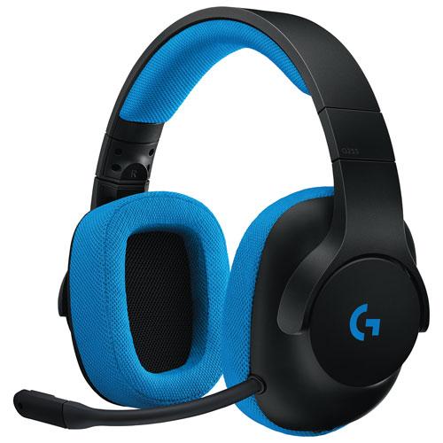 Casque de jeu avec microphone G233 Prodigy de Logitech - Noir - Bleu