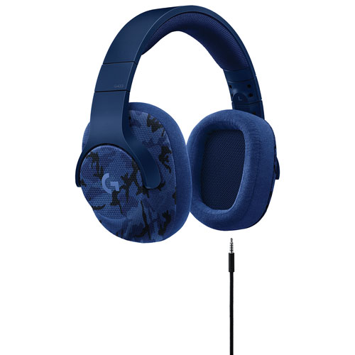 Logitech G433 Wired Gaming Headset with Microphone - Indigo