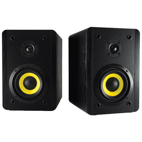 Thonet & Vander VERTRAG 180-Watt Bookshelf Bluetooth Speaker - Pair - Black