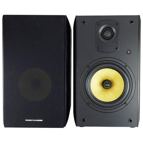 Haut-parleurs d'étagère Bluetooth de 700 W KUGEL de Thonet & Vander - Paire - Noir