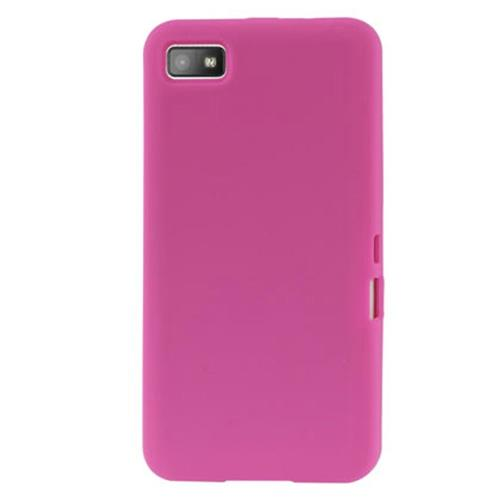 Soft Silicone Gel Skin Cover Case for Blackberry Z10 - Pink