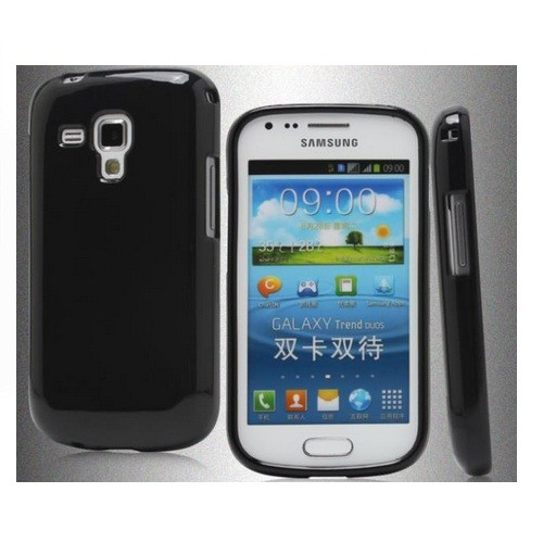 Soft TPU Gel Case Cover for Samsung Galaxy S Duos S7562 - Black