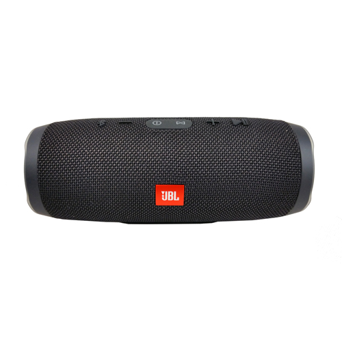 JBL Charge 3 Portable Bluetooth Speaker, Refurbished, Black, English