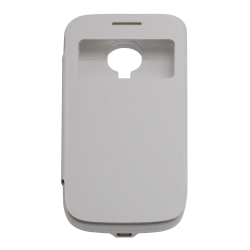 3000mAh Leather Flip Power Bank For Samsung Galaxy S4 Mini i9190 - White