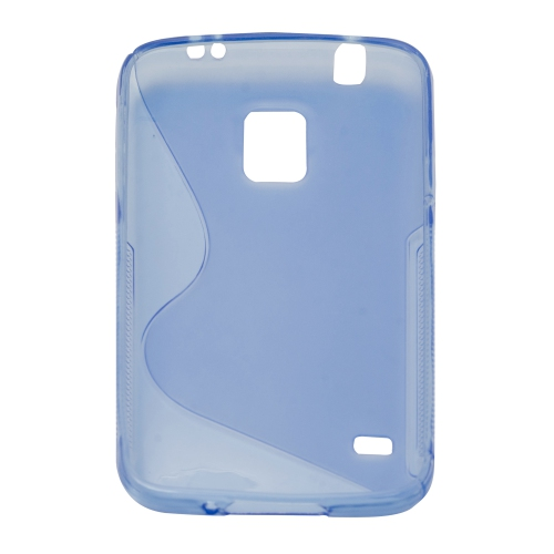 Frosted S Curve TPU Case for Samsung Galaxy S5 I9600 - Blue