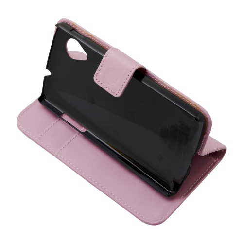 Flip Leather Cover Case Skin For LG Google Nexus 5 - Pink