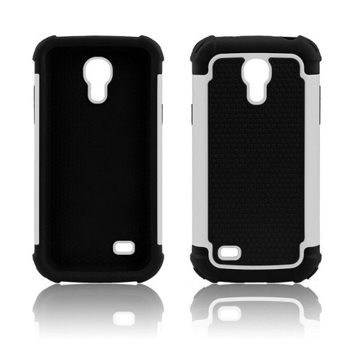 Heavy Duty Impact Rugged Hard Hybrid Case Cover for Samsung Galaxy S4 Mini - White