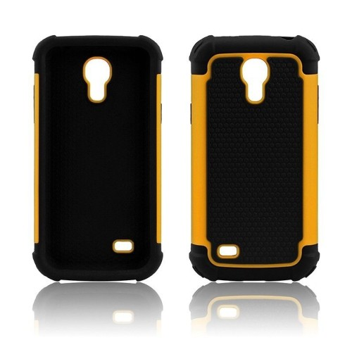 Heavy Duty Impact Rugged Hard Hybrid Case Cover for Samsung Galaxy S4 Mini - Yellow